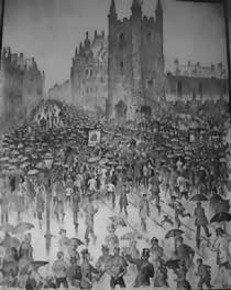 Parade in Newcastle. Newcastle Weekly Chronicle, 23 October 1886
