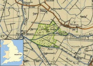 Map Wicken Fen