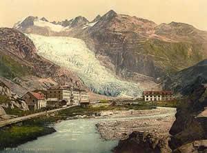 Rhône glacier 1900