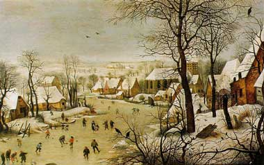 Bruegel Skaters painting