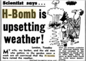 H-bomb upsetting weather